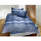 Bettwäsche Linien und Formen blau – Kissenbezug – 50x70 cm