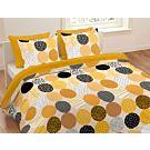 Bettwäsche gepunktet in trendigen Curryfarben – Duvetbezug – 200x210 cm