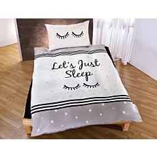 Bettwäsche Let's just sleep auf Sternenhintergrund