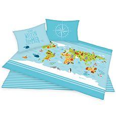 Bettwäsche Kontinente und Ozeane