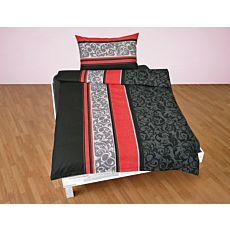 Bettwäsche mit Längsstreifen und Ornament-Muster