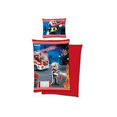 PLAYMOBIL Bettwäsche Feuerwehrauto