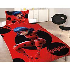 Bettwäsche Miraculous mit Ladybug in Rot