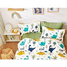 Bettwäsche mit niedlichen, bunten Dinos