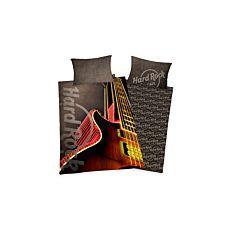 """Bettwäsche mit Gitarre und """"HardRock"""" Logo"""