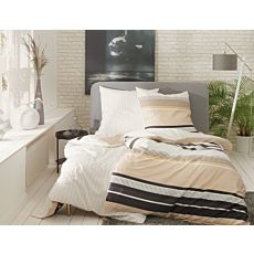 ESPRIT Bettwäsche Kiki beige mit Streifen