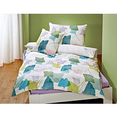 Bettwäsche mit bunten Ginkgoblättern