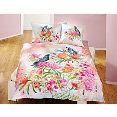 Bettwäsche Blumen mit Papagai und Kakadu