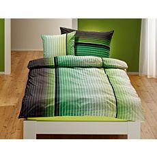 Bettwäsche in farbverlaufendem Quadratmuster
