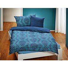 Bettwäsche mit Rautenmuster in zwei Farben
