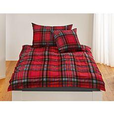 Bettwäsche in Rot und trendigem Karomuster