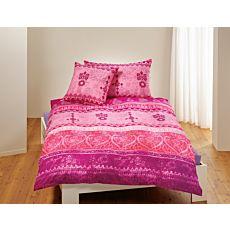 Bettwäsche gemustert im indischen Stil