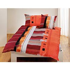 Bettwäsche mit Streifenmuster und Painting-Muster