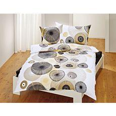 Bettwäsche mit künstlerischem Kreismuster