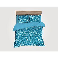 Bettwäsche in blau-weisser Aquaoptik