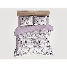 Bettwäsche mit künstlerischem Blattmuster