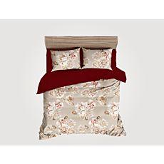 Bettwäsche beige mit grossen Blüten