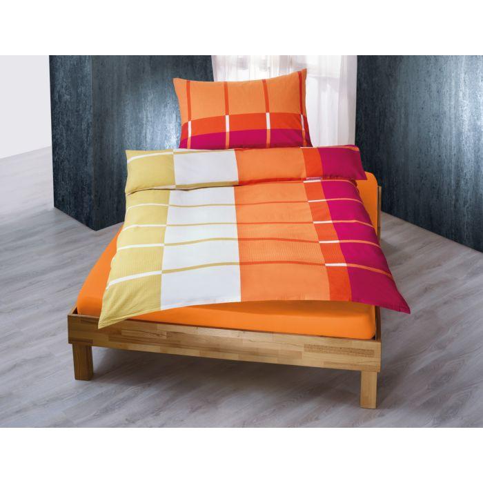 Bettwäsche mit Rechteck und Streifen