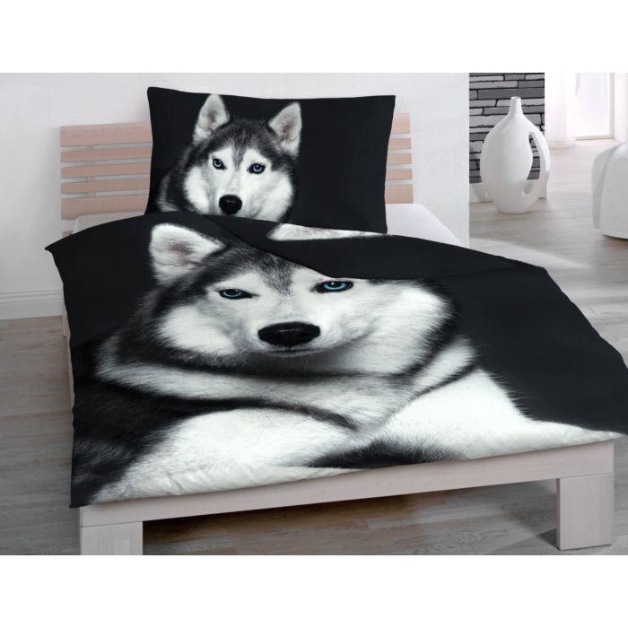 Bettwäsche mit Husky