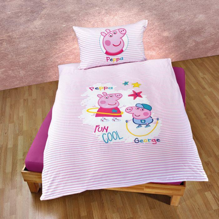 Bettwäsche Peppa Pig mit George und Peppa
