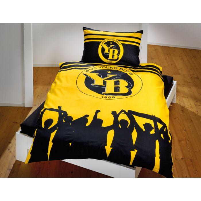 YB-Fan-Bettwäsche schwarz-gelb