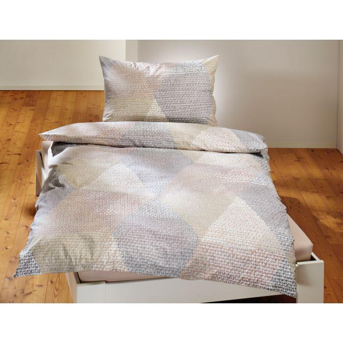 Bettwäsche mit zartem Dreiecksmuster