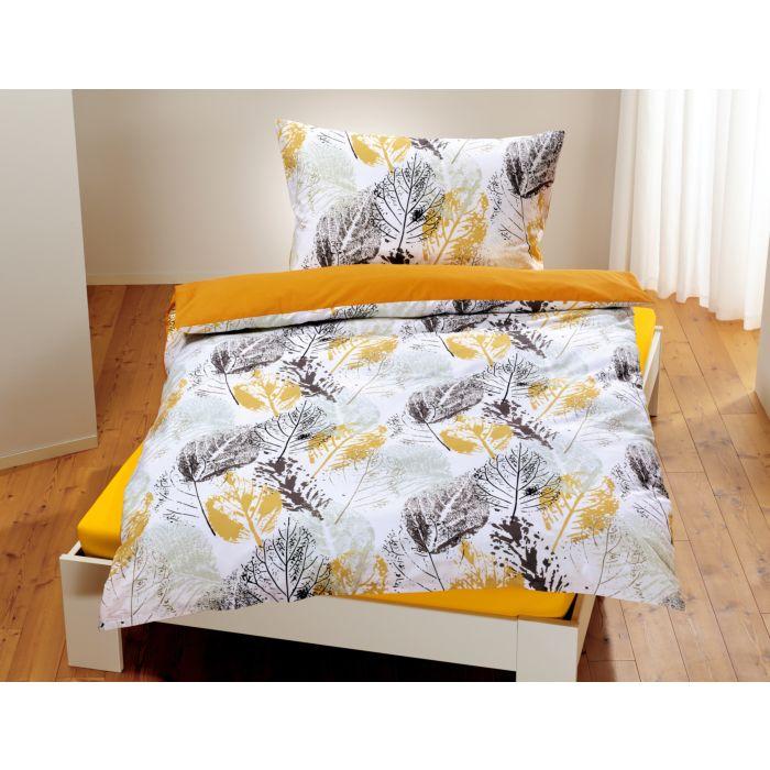 Bettwäsche mit Karomuster in Stempeldrucktechnik