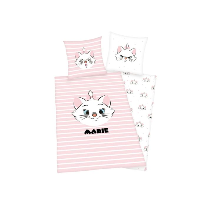 Bettwäsche Aristocats rosa-weiss mit Kätzchen Marie