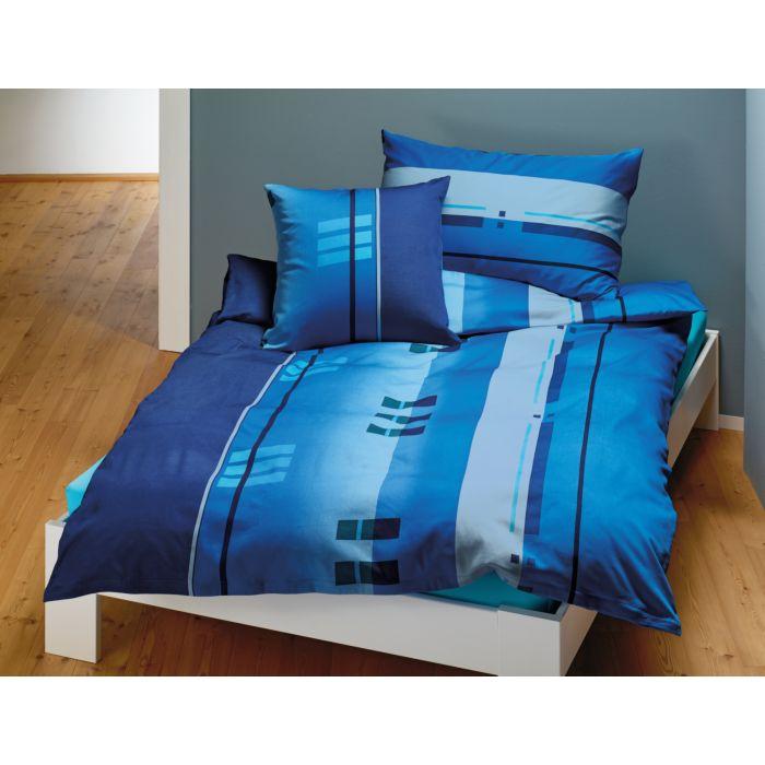 Bettwäsche mit schmalen und breiten Streifen