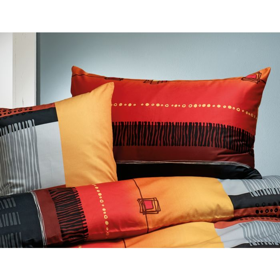 Bettwäsche Mit Schwarz Braun Orange Rotem Farbverlauf Bestellen