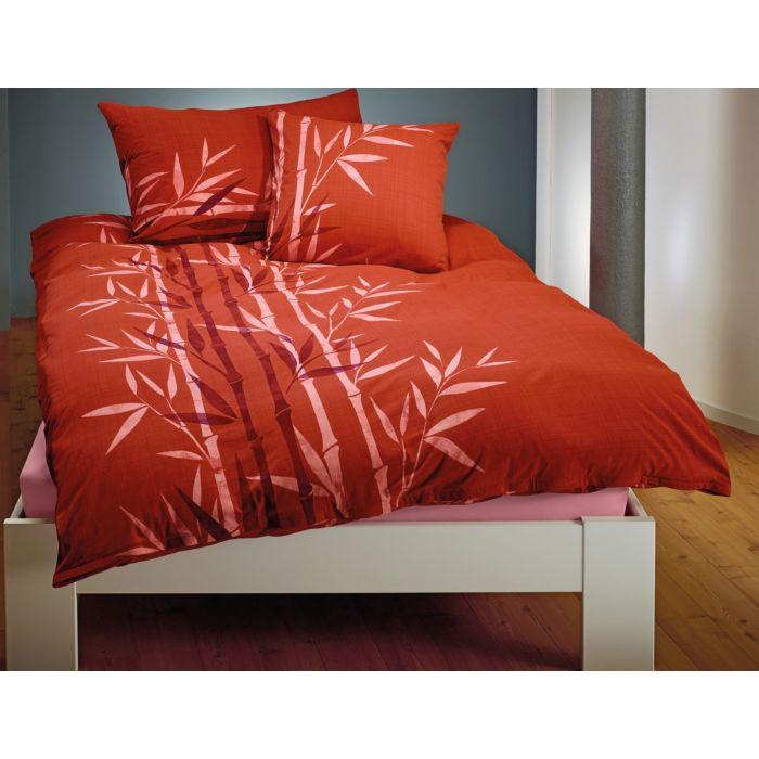 Bettwäsche mit Bambusprint
