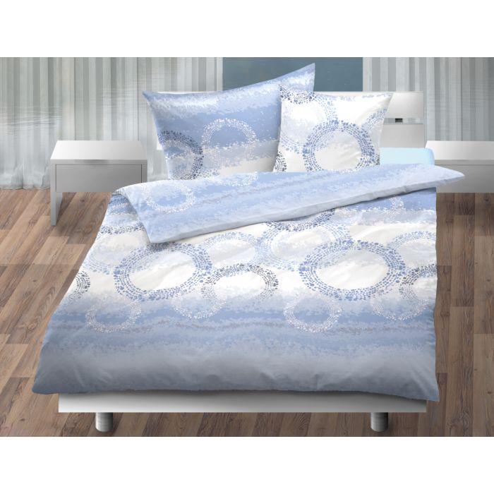 Bettwäsche mit gepunkteten Kreisen in pastelligen Farben