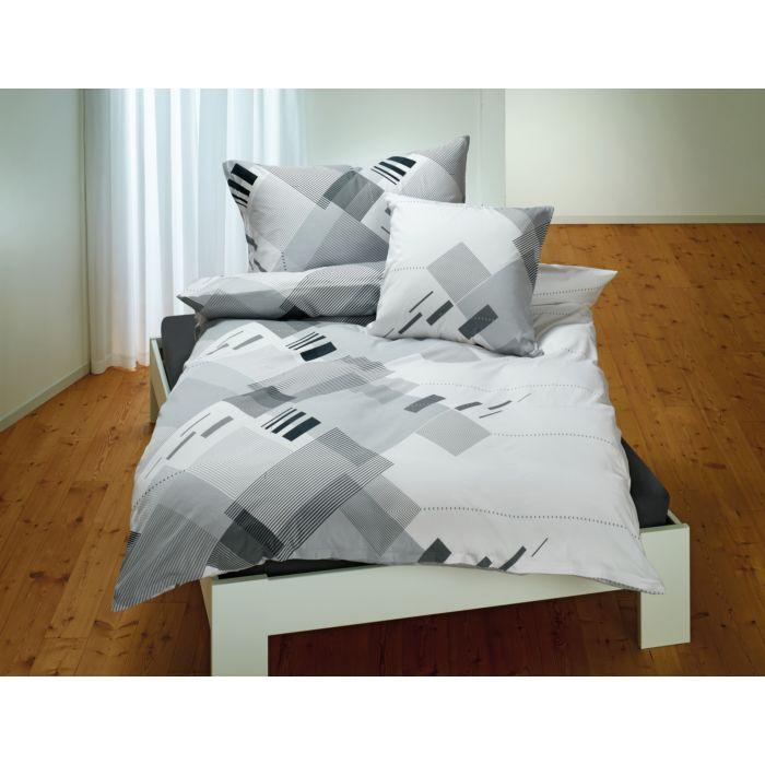 Bettwäsche mit stilvollem Design in schwarz-weiss-anthrazit