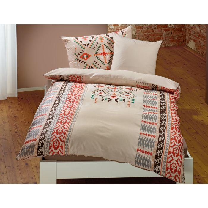 Bettwäsche beige mit Ethno-Muster