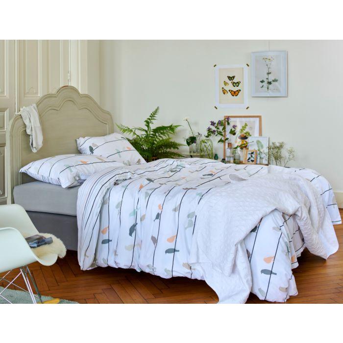 ESPRIT Bettwäsche weiss mit bunten Vögeln