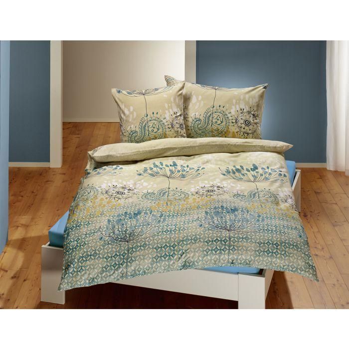 Bettwäsche mit botanischem Muster