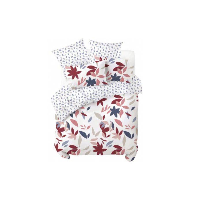 Bettwäsche mit farbigem Blättermuster